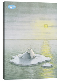 Canvas print  The Little Polar Bear on the ice floe
