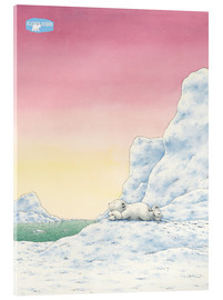 Acrylic print  The Little Polar Bear while thinking