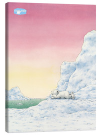 Canvas print  The Little Polar Bear while thinking