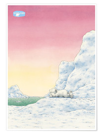 Premium poster  The Little Polar Bear while thinking