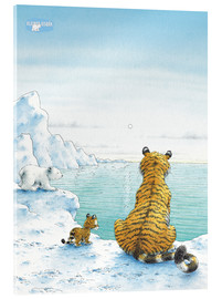 Acrylic print  The Little Polar Bear with friends