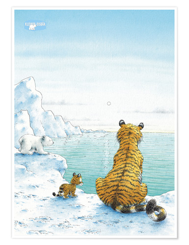 Poster The Little Polar Bear with friends