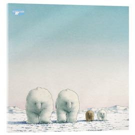 Acrylic glass  The Little Polar Bear and his family
