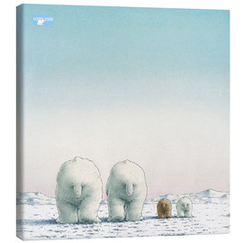 Canvas print  The little polar bear and his family