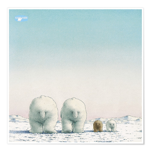 Poster The Little Polar Bear and his family