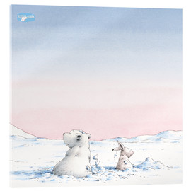Acrylic print  The little polar bear