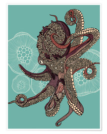 Premium poster Octopus Bloom