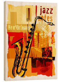 Wood print  Jazz notes - colosseum
