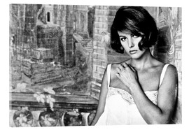 Acrylic glass  TIME OF INDIFFERENCE, Claudia Cardinale