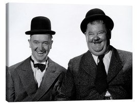 Canvas print  Laurel and Hardy: Nothing but trouble