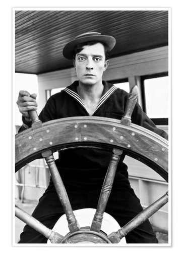 Premium poster THE NAVIGATOR, Buster Keaton, Kathryn McGuire