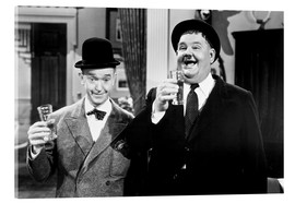 Acrylic glass  Laurel & Hardy as dance teachers