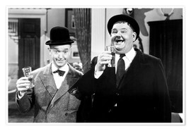 Premium poster Laurel & Hardy as dance teachers