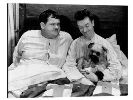Aluminium print  Bedtime with Laurel & Hardy