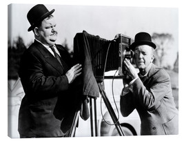 Canvas print  THE BIG NOISE, Oliver Hardy, Stan Laurel