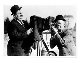Premium poster THE BIG NOISE, Oliver Hardy, Stan Laurel