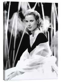 Canvas print  Grace Kelly with a tulle shawl