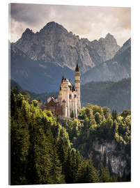 Acrylic print  Neuschwanstein Castle in front of the Alps - Andreas Wonisch