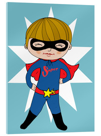 Acrylic glass  Our superhero Max - Little Miss Arty