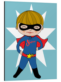 Aluminium print  Our superhero Max - Little Miss Arty