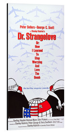Aluminium print  DR. STRANGELOVE OR: HOW I LEARNED TO STOP WORRYING AND LOVE THE BOMB