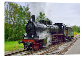 Acrylic print  Old Steam Locomotive in the Black Forest - FineArt Panorama