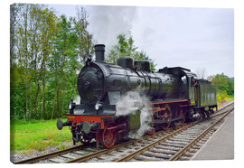 Canvas  Old Steam Locomotive in the Black Forest - Fine Art Images