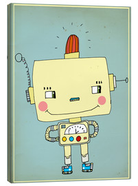Canvas  Robbie robot in love - Little Miss Arty