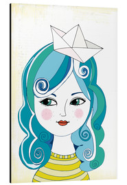 Aluminium print  Sailor girl - Little Miss Arty