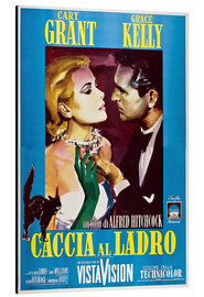 Aluminium print  TO CATCH A THIEF (CACCIA AL LADRO), Grace Kelly, Cary Grant