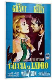 Foam board print  TO CATCH A THIEF (CACCIA AL LADRO), Grace Kelly, Cary Grant