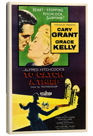 Canvas  TO CATCH A THIEF, Alfred Hitchcock, Cary Grant, Grace Kelly