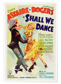 Premium poster  SHALL WE DANCE, Fred Astaire, Ginger Rogers