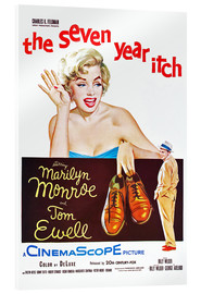 Acrylic print  THE SEVEN YEAR ITCH, Marilyn Monroe, Tom Ewell