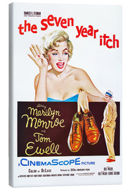 Canvas print  THE SEVEN YEAR ITCH, Marilyn Monroe, Tom Ewell