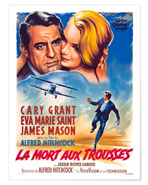 Premium poster NORTH BY NORTHWEST, (LA MORT AUX TROUSSES), Cary Grant, Eva Marie Saint