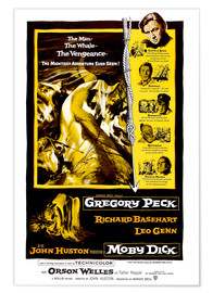 Premium poster MOBY DICK, Gregory Peck