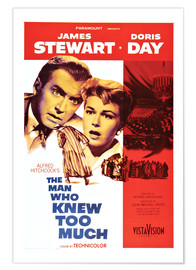 Premium poster THE MAN WHO KNEW TOO MUCH, James Stewart, Doris Day