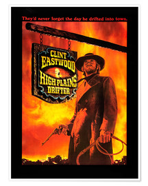 Premium poster  HIGH PLAINS DRIFTER, Clint Eastwood