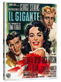 Canvas print  GIANT, Rock Hudson, Elizabeth Taylor, James Dean