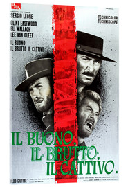Acrylic glass  THE GOOD, THE BAD AND THE UGLY, (IL BUONO, IL BRUTTO, IL CATTIVO), Clint Eastwood, Lee Van cleef, El
