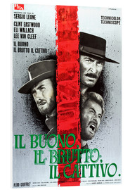 Foam board print  THE GOOD, THE BAD AND THE UGLY, (IL BUONO, IL BRUTTO, IL CATTIVO), Clint Eastwood, Lee Van cleef, El