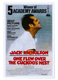 Premium poster One Flew Over the Cuckoos Nest, Jack Nicholson