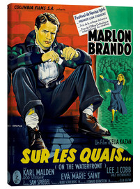 Canvas print  ON THE WATERFRONT, (SUR LES QUAIS), Marlon Brando