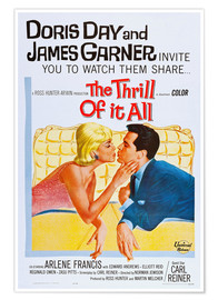 Premium poster THE THRILL OF IT ALL, Doris Day, James Garner