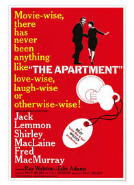 Premium poster THE APARTMENT, Jack Lemmon, Shirley MacLaine