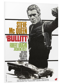Foam board print  Steve Mcqueen in Bullitt (french)