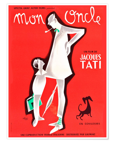 Premium poster Mon Oncle (french)