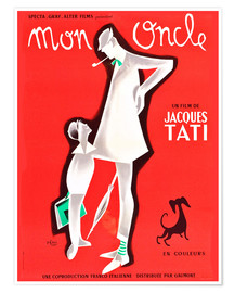 Poster  My Uncle, Jacques Tati (French)