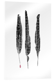 Acrylic print  The author's feathers - Sybille Sterk